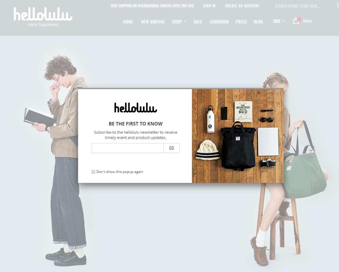 【網店創業】銷售必備工具:6種Pop-up彈出式視窗 - hellolulu