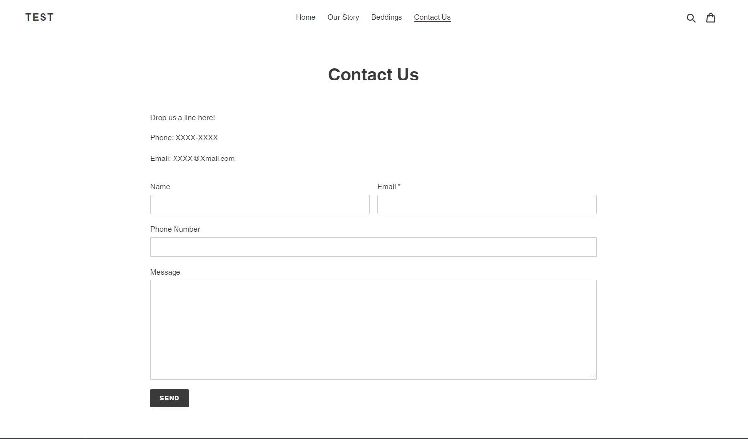 附上了可供客人填寫自己資料和訊息的地方