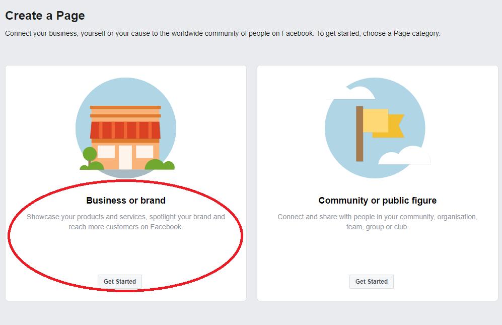 建立公司Facebook專頁(企業管理平台)的7個步驟 - Business or Brand
