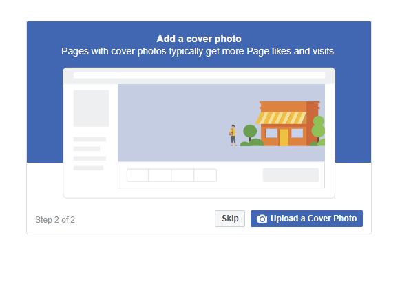 建立公司Facebook專頁(企業管理平台)的7個步驟 - 封面圖 (Cover Picture)