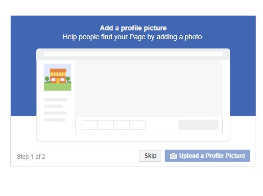 建立公司Facebook專頁(企業管理平台)的7個步驟 - 大頭貼(Profile Picture)