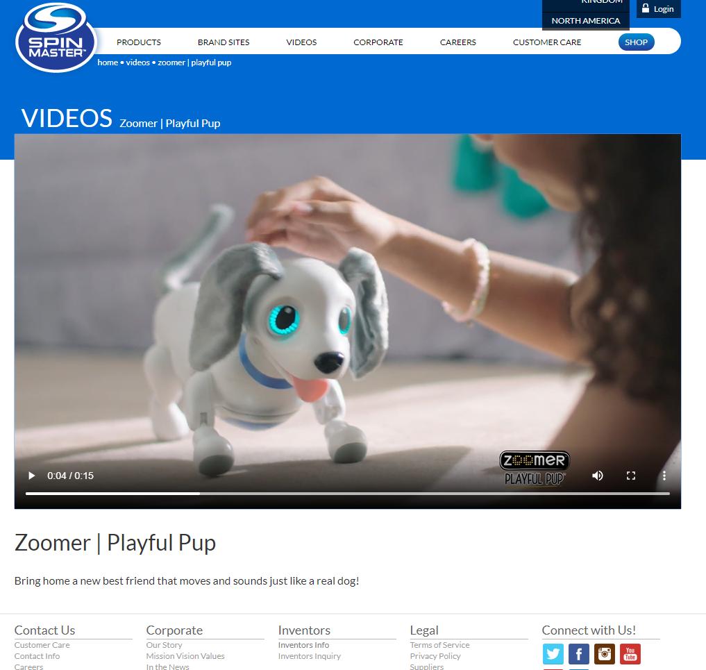 網頁提供介紹產品的影片