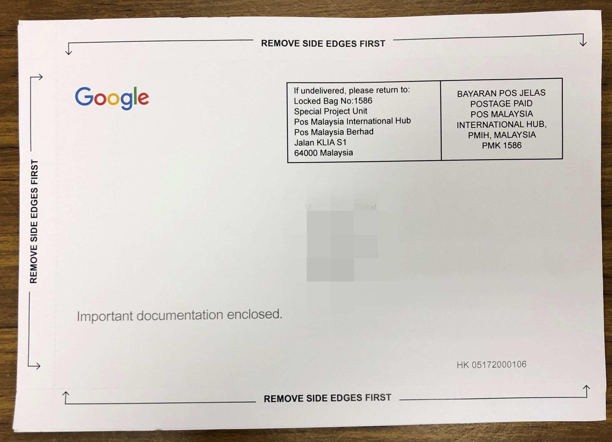 【搜索結果頂位:8步設立Google My Business】Google My Business 我的商家 明信片正面