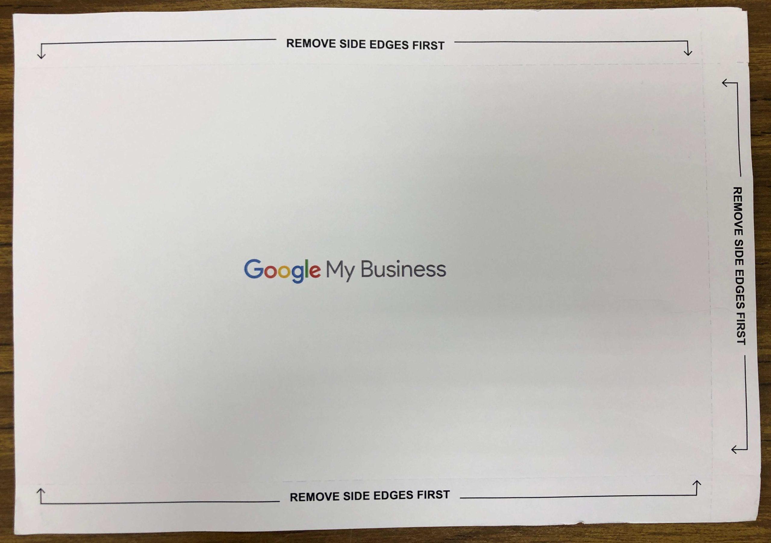 【搜索結果頂位:8步設立Google My Business】Google My Business 我的商家 明信片背面