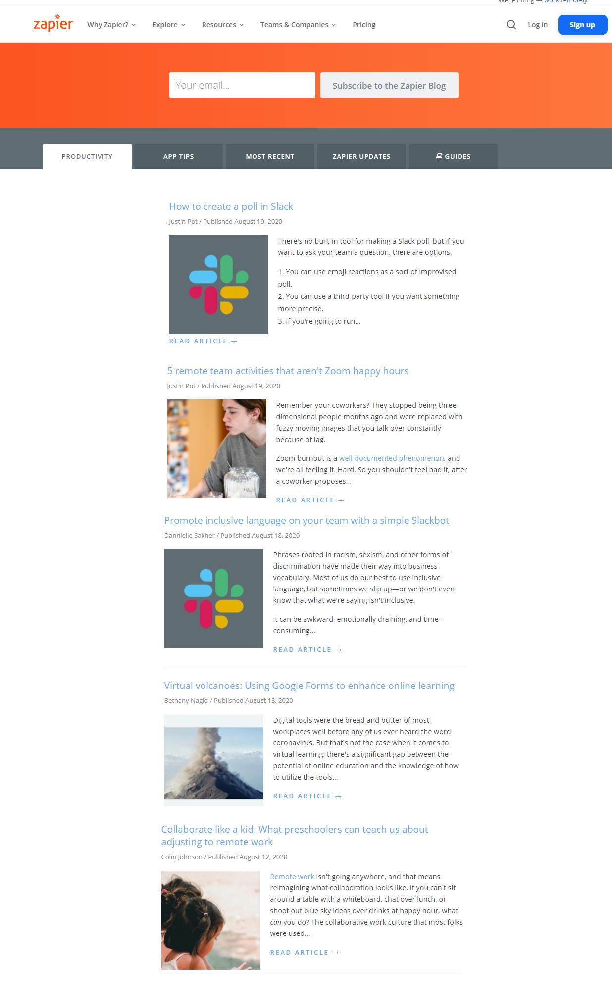 SaaS Inbound Marketing Case Study - Blog Writing