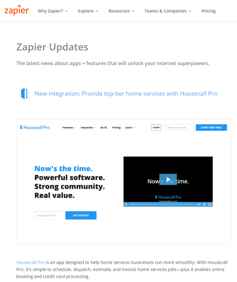 SaaS Company's 1st Step to Content Marketing - Zapier Update