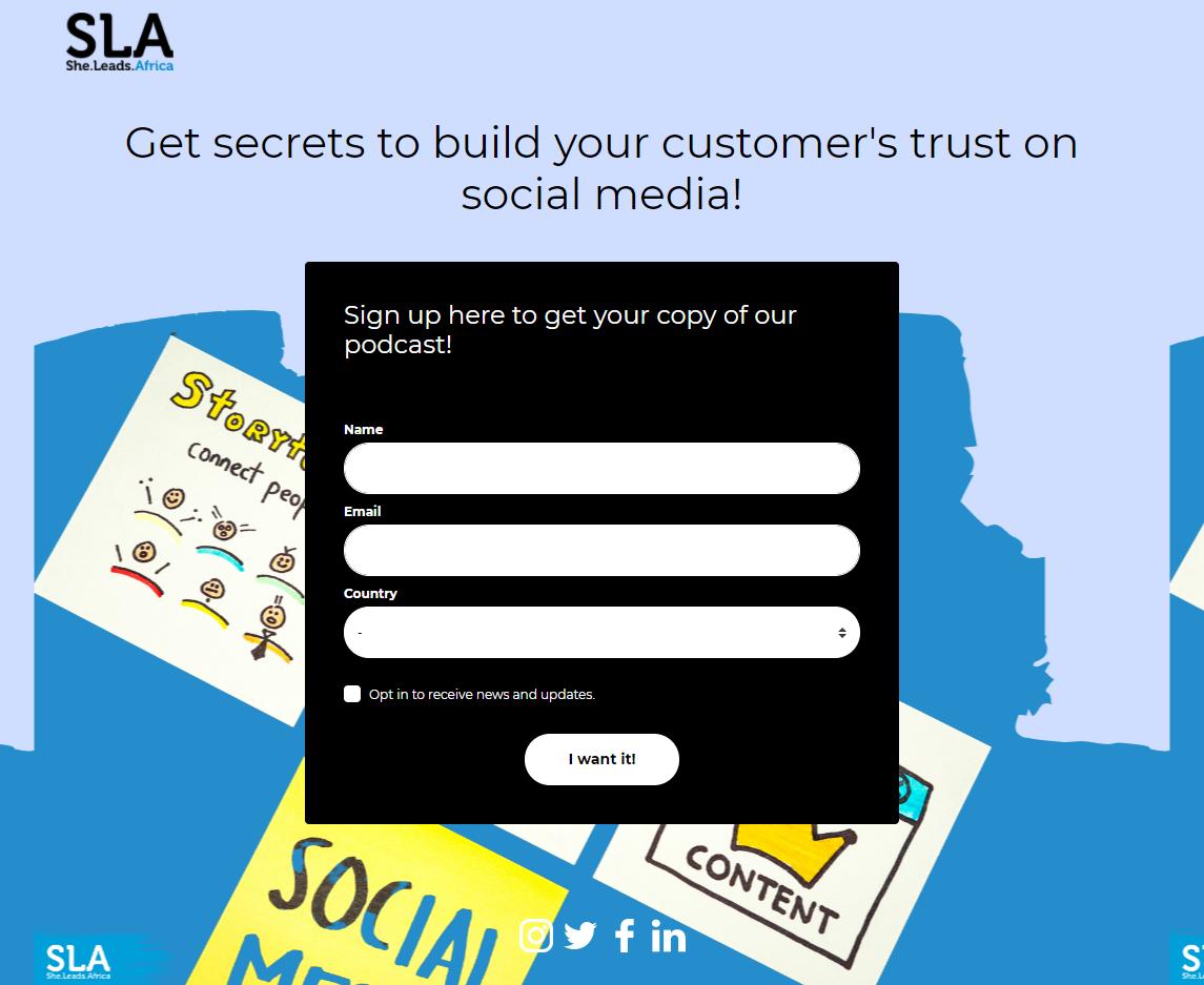 建立客戶名單著陸頁的5個必備要素 Lead Generation Landing Page- SLA