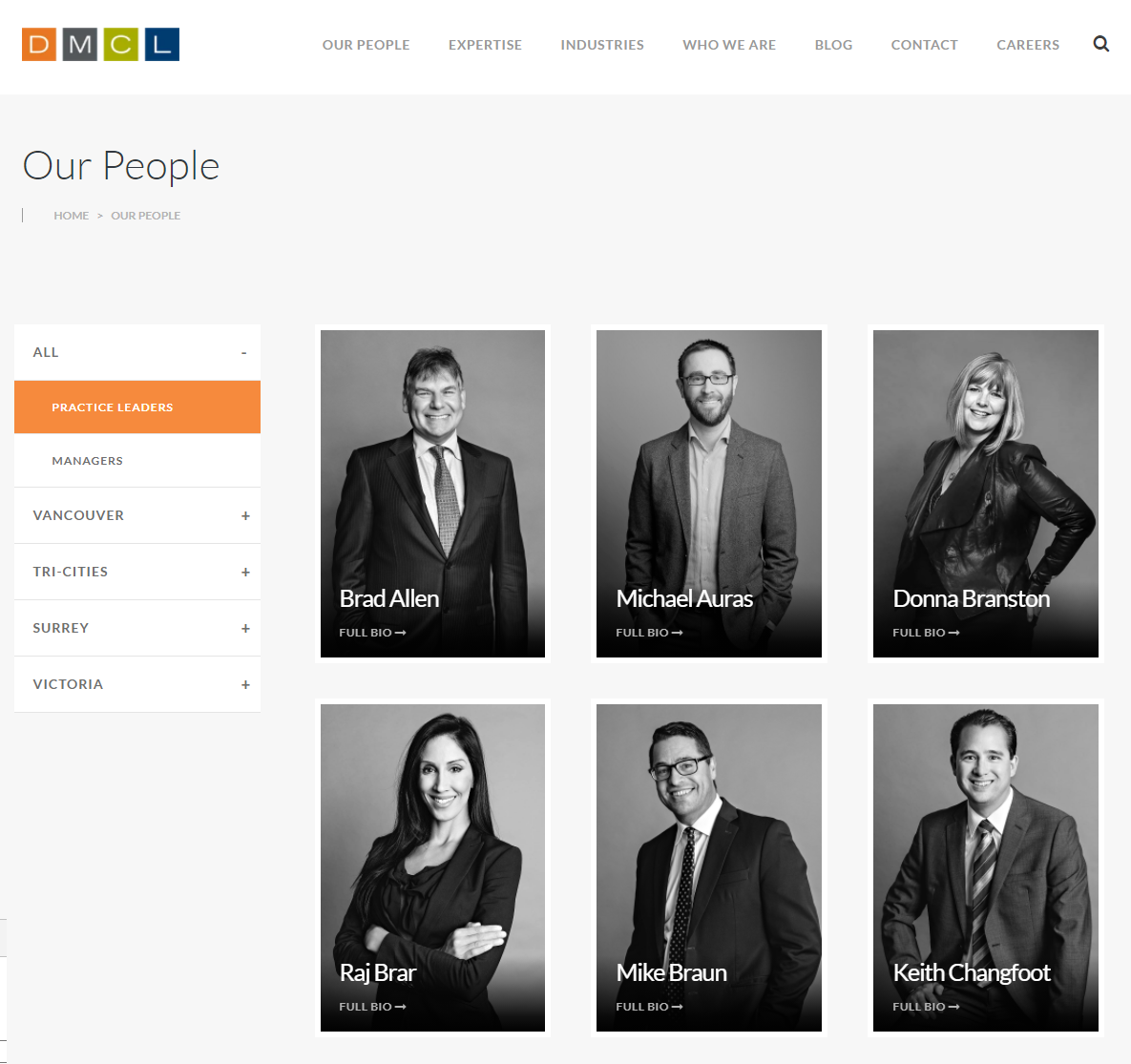 4 Conversion Focused Features for Accounting Firm Websites - Our People