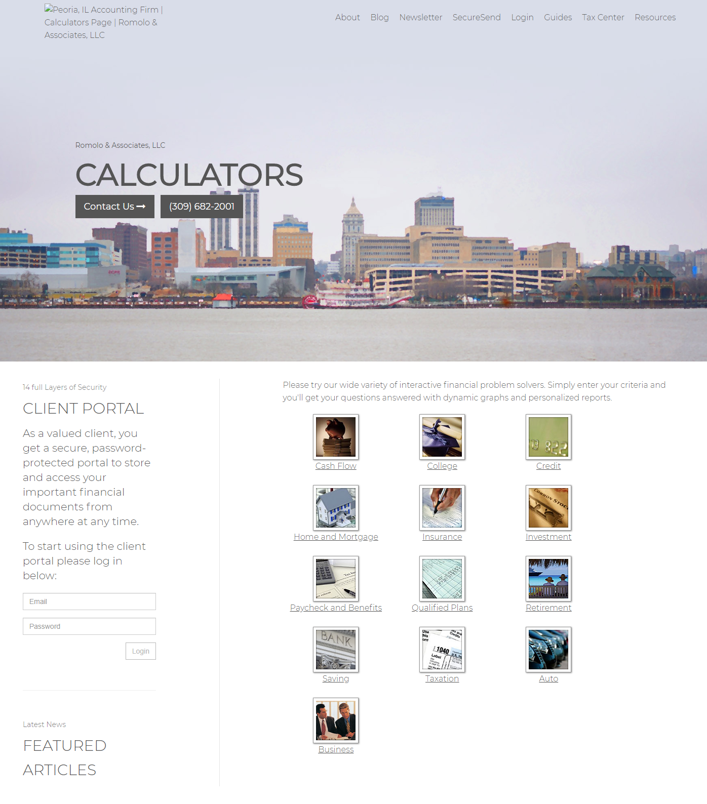 4 Conversion Focused Features for Accounting Firm Websites - Calculators