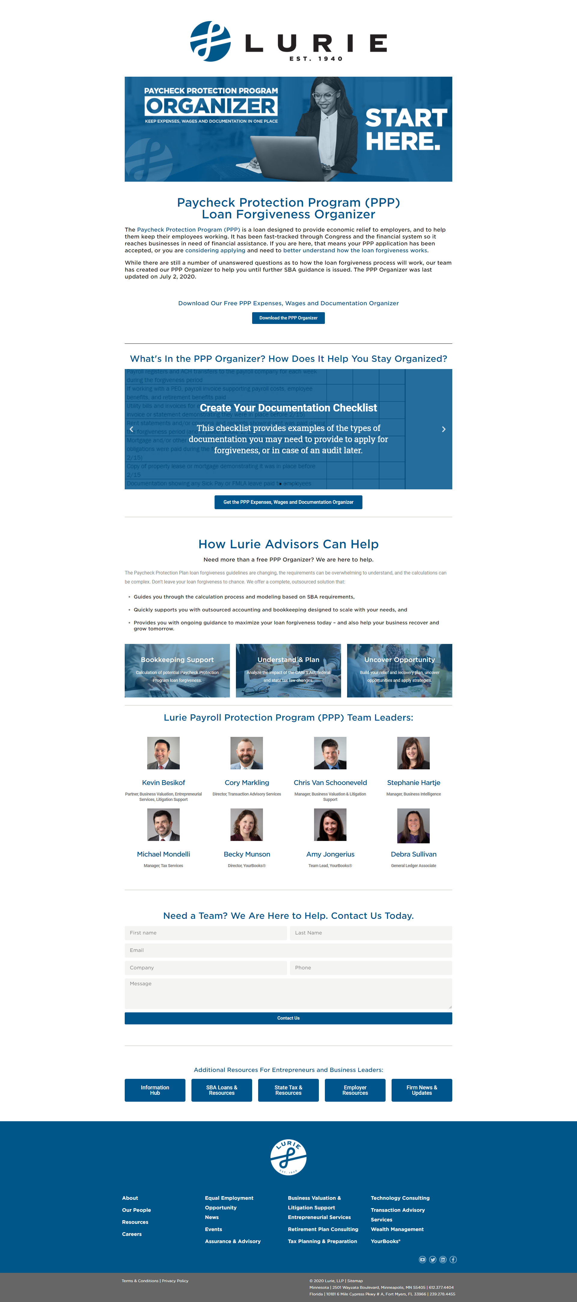 4 Conversion Focused Features for Accounting Firm Websites - Landing Pages