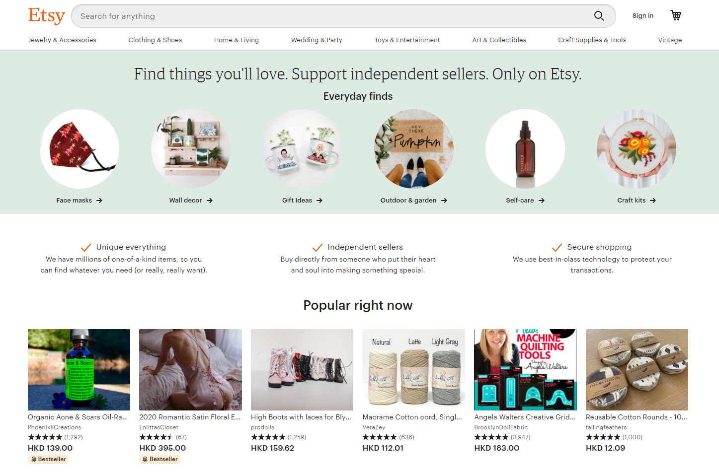 【Amazon開店?】認識自家網店和網上商城的不同之處!- Etsy