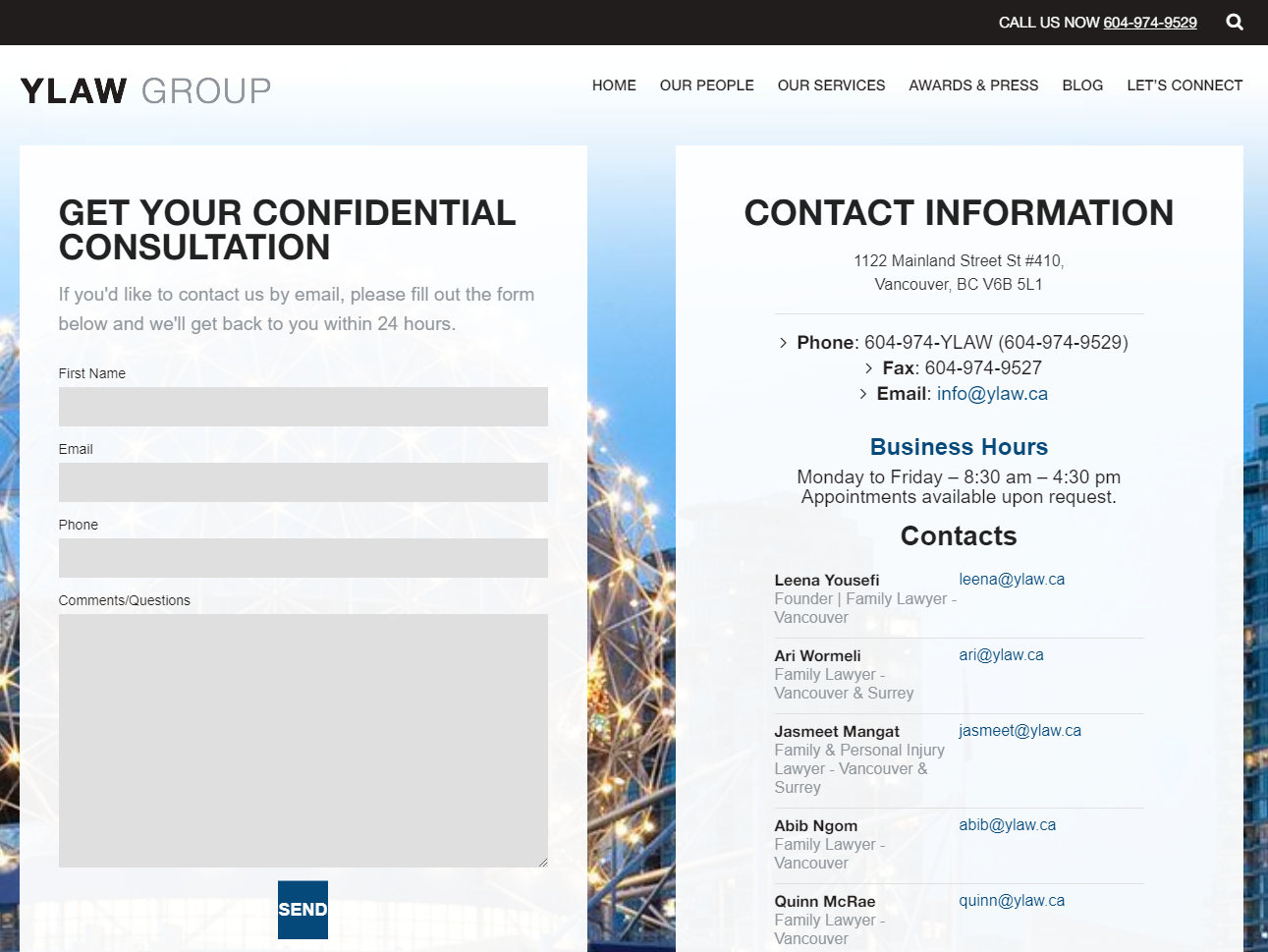 How to attract clients with your law firm website? - Contact Us Form